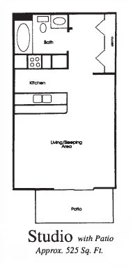 Appleton Place Apartments in Menomonee Falls studio floor plan