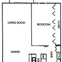 Appleton Place Menomonee Falls 1Bed Ranch floor plan