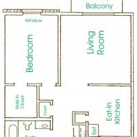 Cameron Heights Menomonee Falls 1Bed 1Bath floor plan