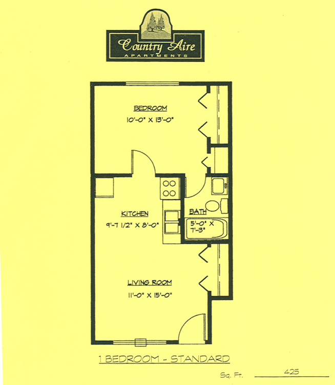 Hartland Country Aire 1bed floor plan
