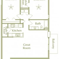 Hidden Ponds Pewaukee apartment 2Bed 1Bath V2 floor plan