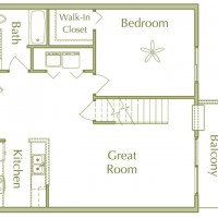 Hidden Ponds Pewaukee apartment 2Bed 2Bath Loft Lower floor plan