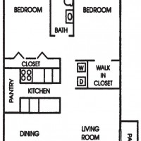 Maple Grove Sussex apartment 2Bed 1Bath Ranch floor plan