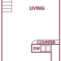 Fairway Meadows Franklin 1Bed Loft Lower floor plan