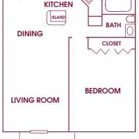 Fairway Meadows Franklin 1Bed Ranch floor plan