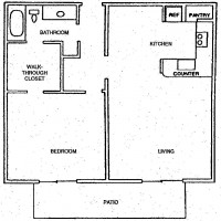 Foxtail Meadows Pewaukee apartment 1Bed floor plan