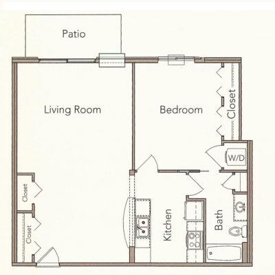 1 Bedroom Ranch
